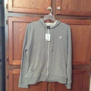 Air Jordan women's hoodie grey with graphics NWT